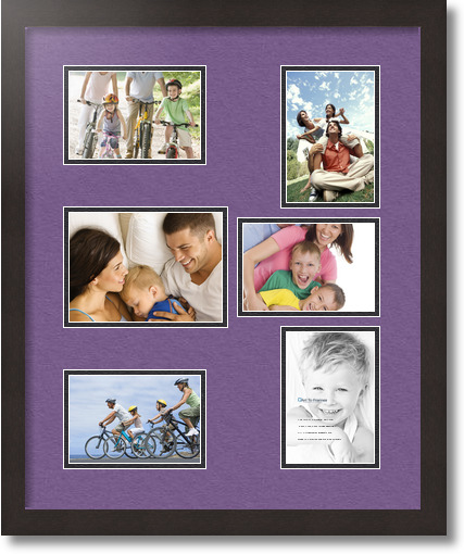 18x22 Coffee Collage Picture Frame 6 Opening Grape And