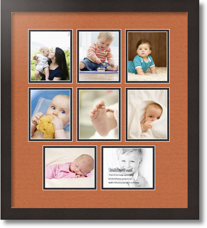 18x20 Coffee Collage Picture Frame 8 Opening Red Orange