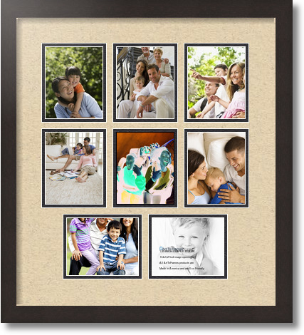 18x20 coffee collage picture frame 8 opening seaside and black mat. Black Bedroom Furniture Sets. Home Design Ideas