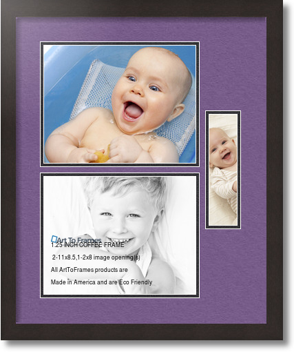 18x22 Coffee Collage Picture Frame 3 Opening Grape And
