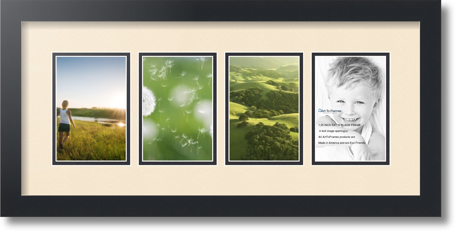 Arttoframes Collage Mat Picture Photo Frame 4 4x6