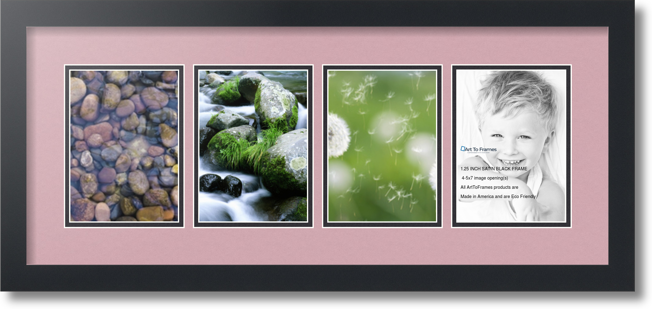 Arttoframes Collage Mat Picture Photo Frame 4 5x7