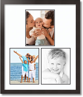 (3) 8x10 Espresso Super White Collage Picture frame