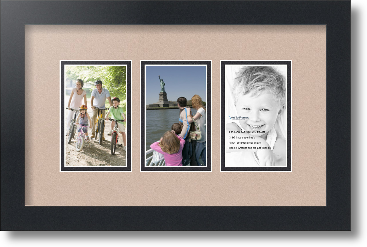 ArtToFrames Collage Mat Picture Photo Frame - 3 3x5\