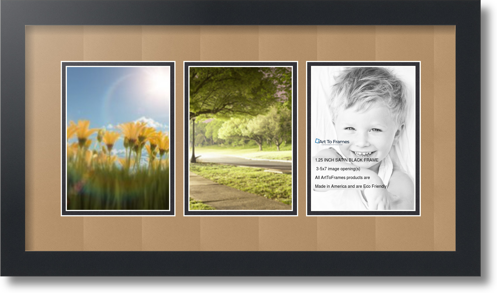 ArtToFrames Collage Mat Picture Photo Frame - 3 5x7\