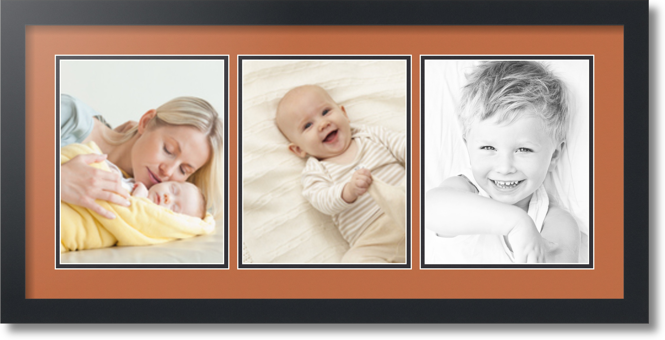 Arttoframes Collage Mat Picture Photo Frame 3 8x10