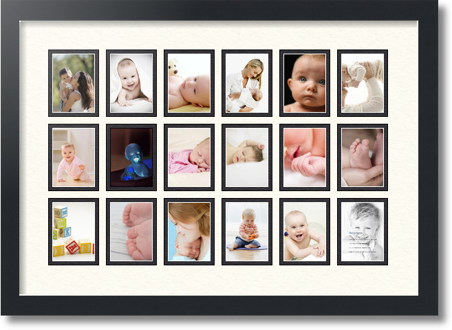 24x165 satin black collage picture frame 18 opening chantilly and