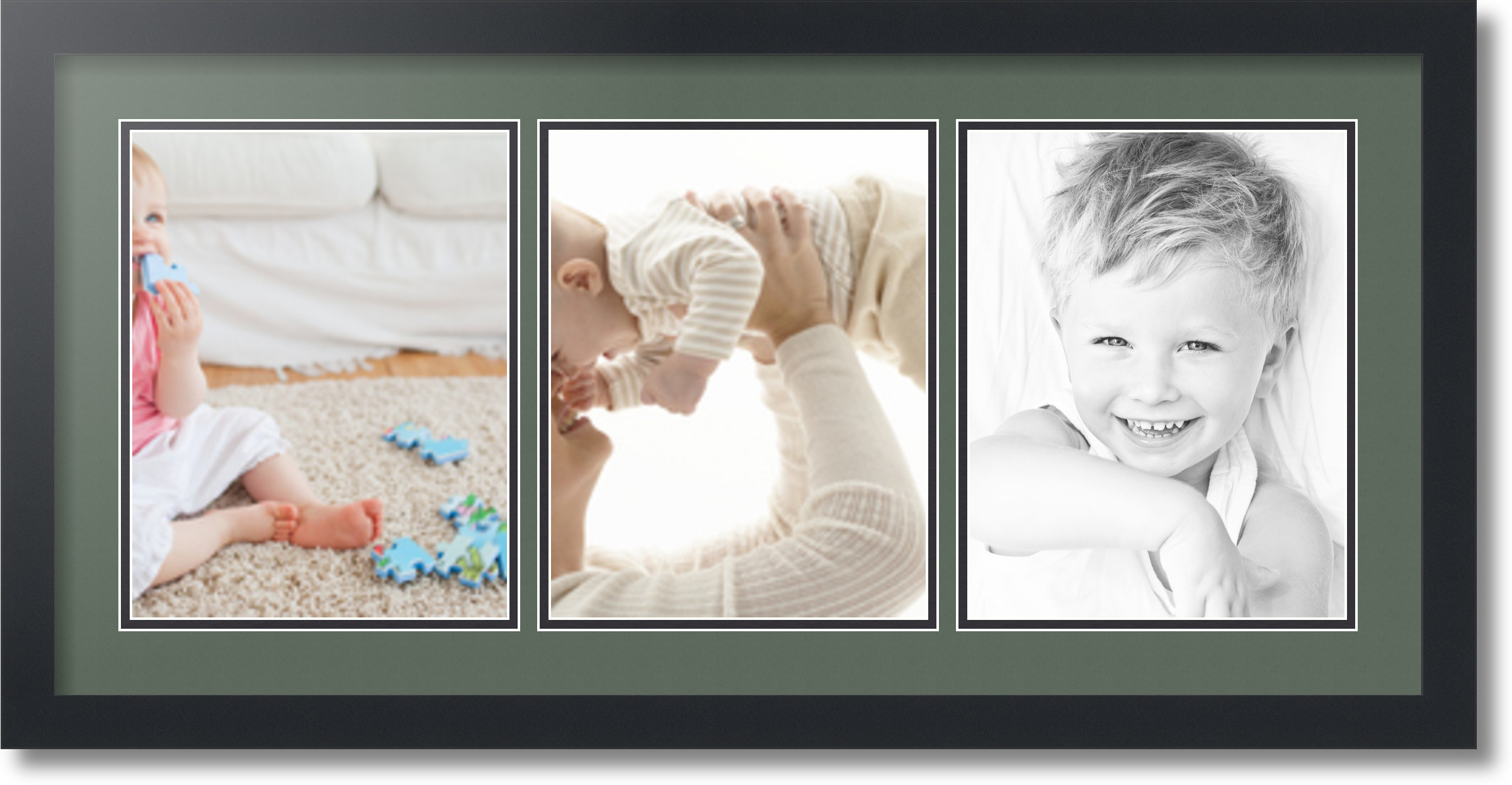 ArtToFrames Collage Mat Picture Photo Frame 3 8.5x11\