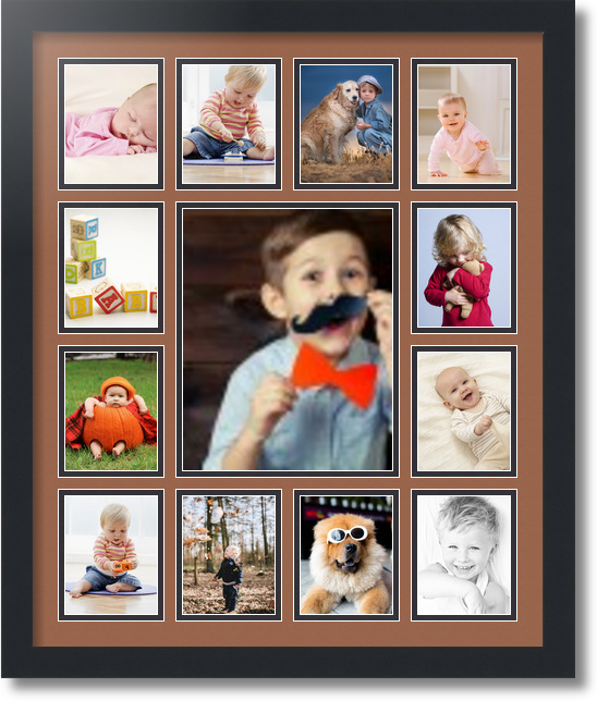 20x24 satin black collage picture frame 13 opening