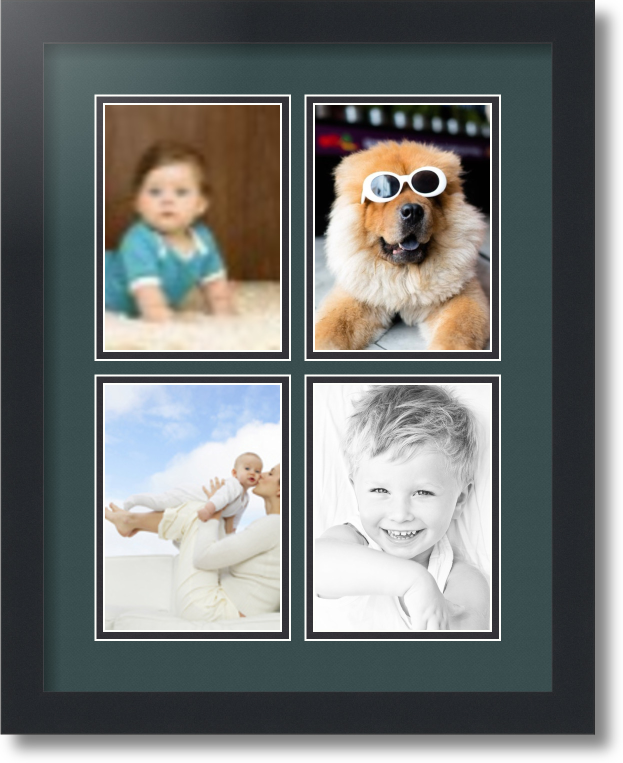 ArtToFrames Collage Mat Picture Photo Frame - 4 5x7\