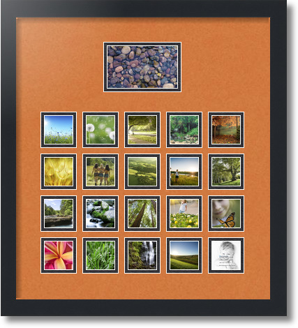 18x20 Satin Black Collage Picture Frame 21 Opening