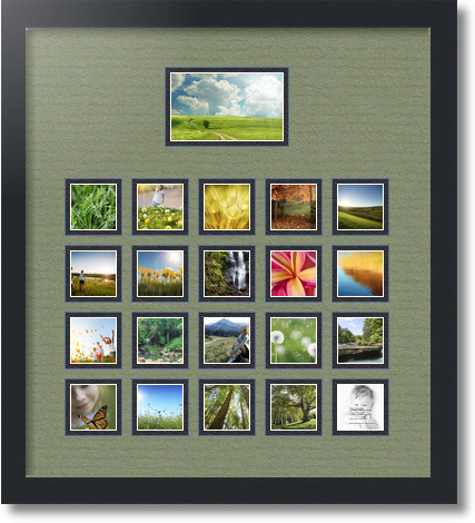 18x20 Satin Black Collage Picture Frame 21 Opening Basil