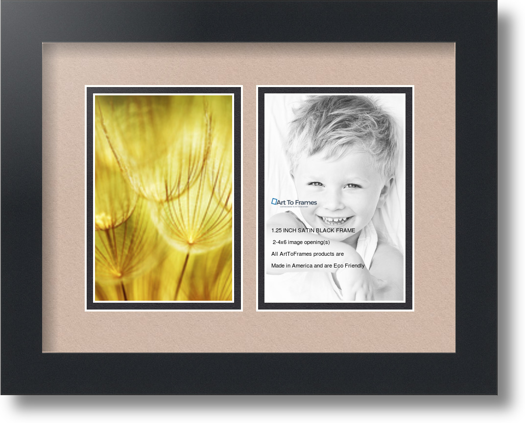 ArtToFrames Collage Mat Picture Photo Frame 2 4x6\