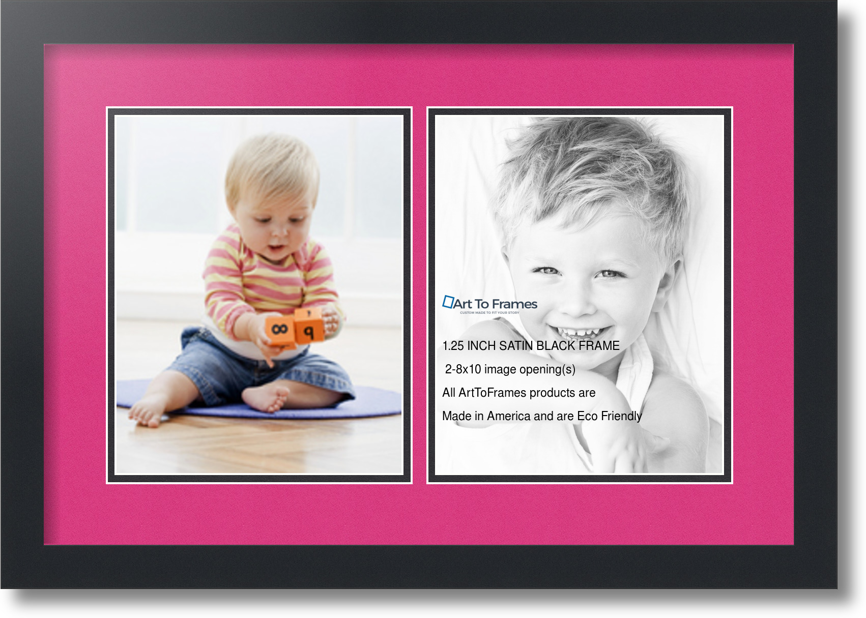 Arttoframes collage mat picture photo frame 2 8x10 openings in arttoframes collage mat picture photo frame 2 8x10 jeuxipadfo Image collections