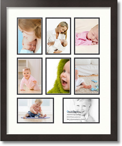 18x22 Coffee Collage Picture Frame 8 Opening Porcelain And