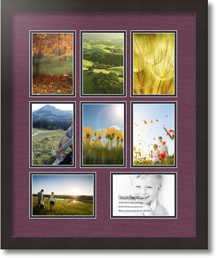 18x22 coffee collage picture frame 8 opening ruby and black mat. Black Bedroom Furniture Sets. Home Design Ideas