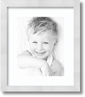 15x7 Espresso collage picture frame 2 opening Super White mat