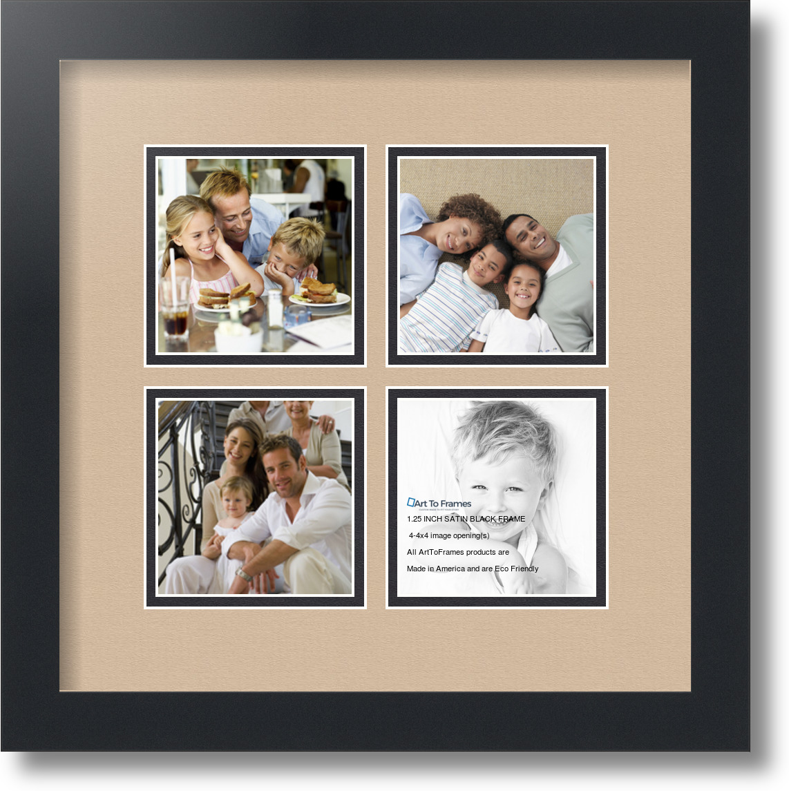 Arttoframes Collage Mat Picture Photo Frame 4 4x4