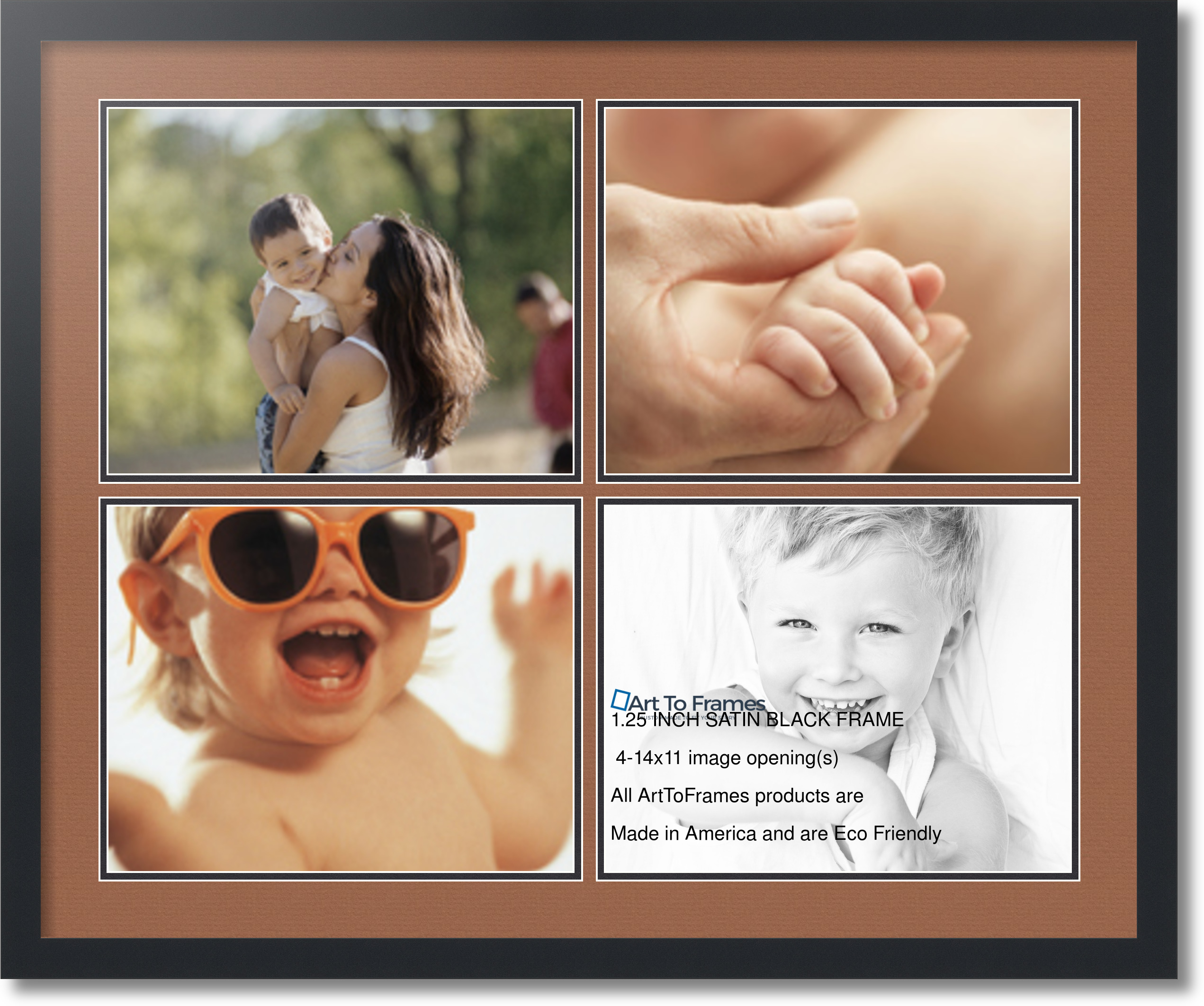 ArtToFrames Collage Mat Picture Photo Frame - 4 11x14\