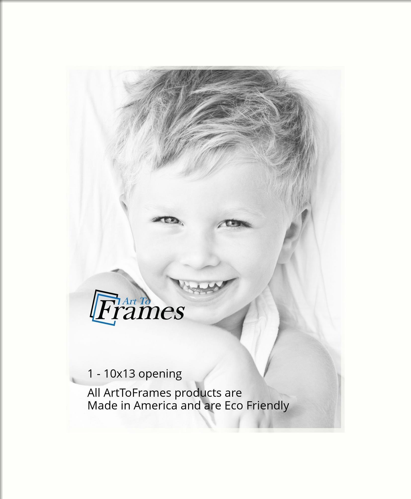 Arttoframes Custom White Light Cream Picture Photo Frame