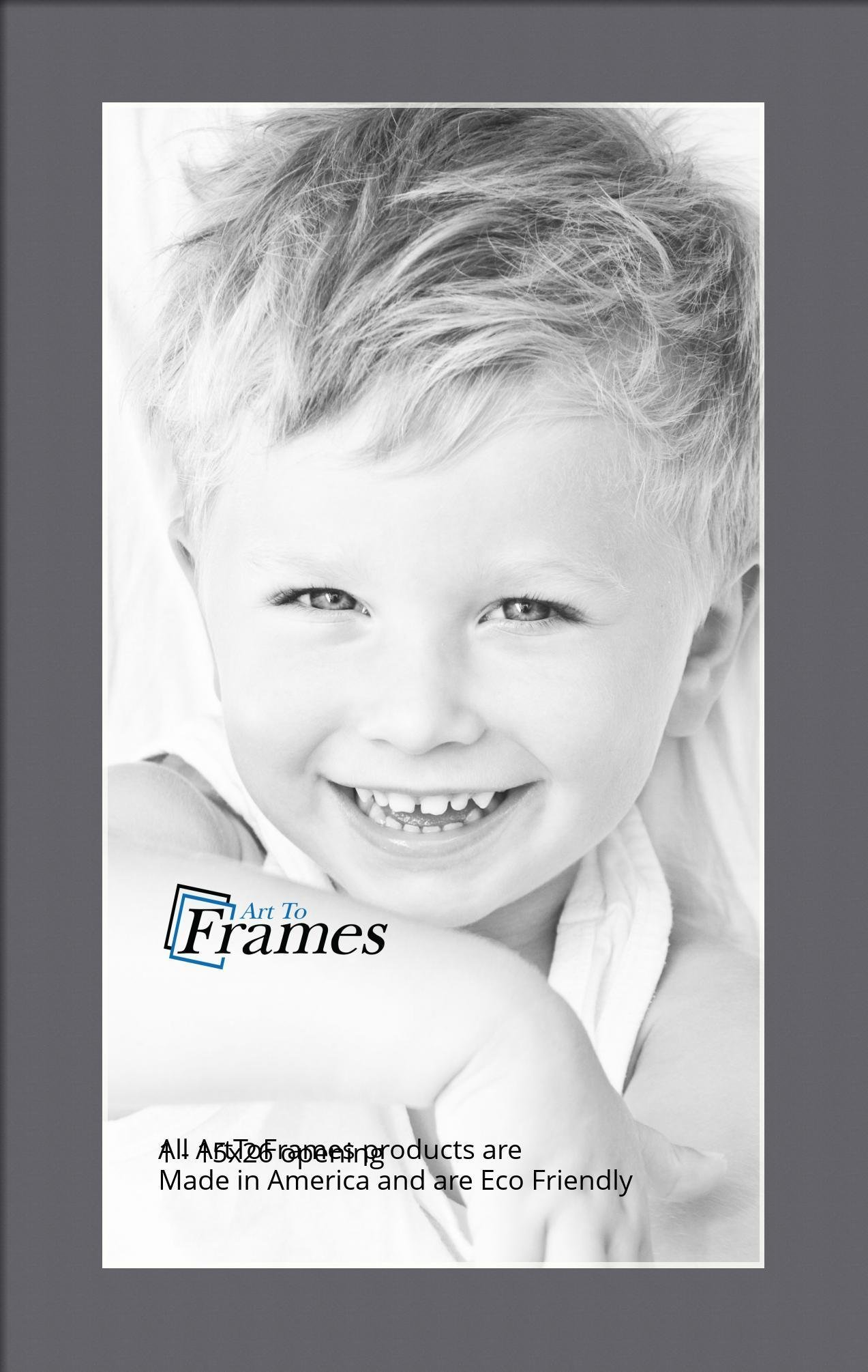 Arttoframes Custom Gray Mountain Grey Picture Photo Frame