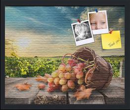 Autumn Fruit Basket Custom cork board preview 22x18