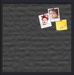 Diamond Pattern In Black Custom cork board preview 24x24