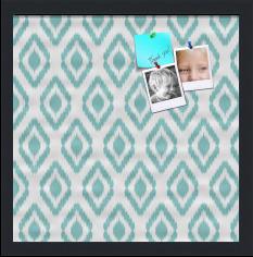 Ikat Aqua Custom cork board preview 16x16
