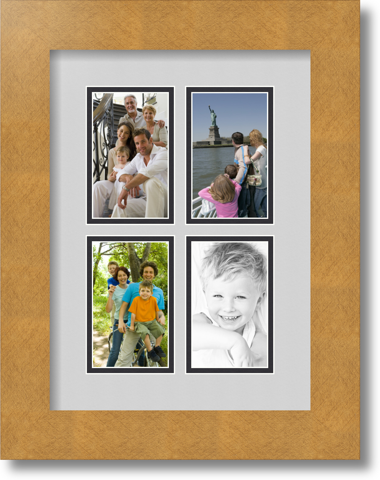 ArtToFrames Collage Mat Picture Photo Frame 4 3x5\
