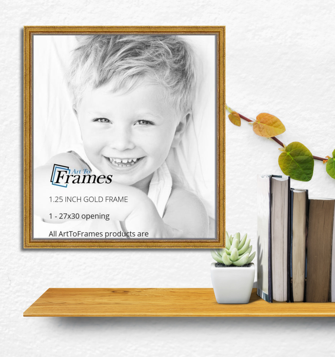 27x30 Gold Foil on Pine picture frame