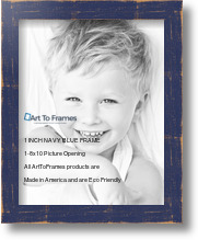 8x10 Distressed Navy Blue Picture Frame